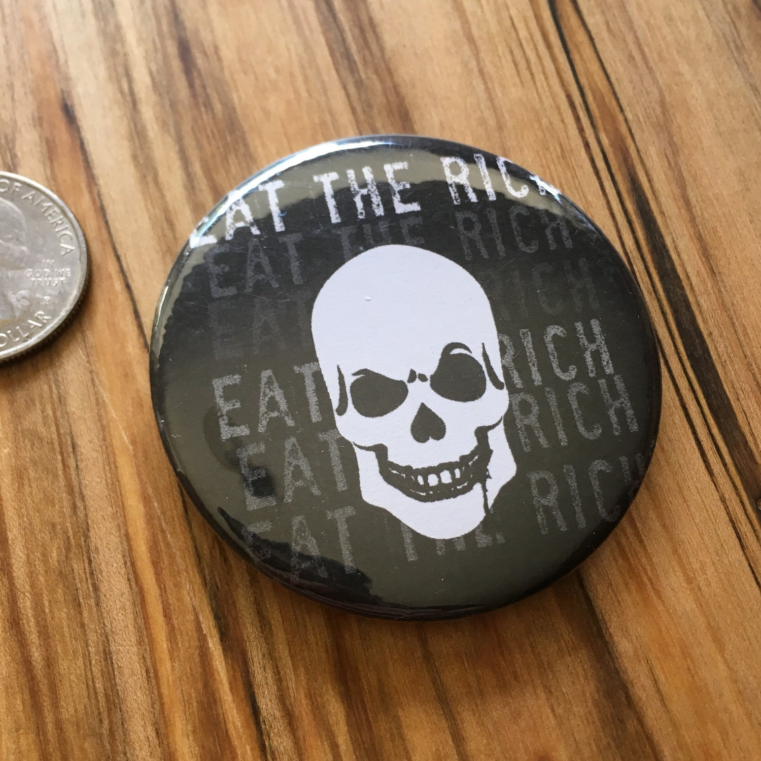 "Image of Eat the Rich 2.5"" Button"