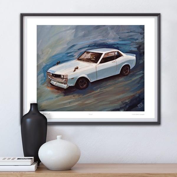 TA22 Toyota Celica Print - Matt Q. Spangler Illustration