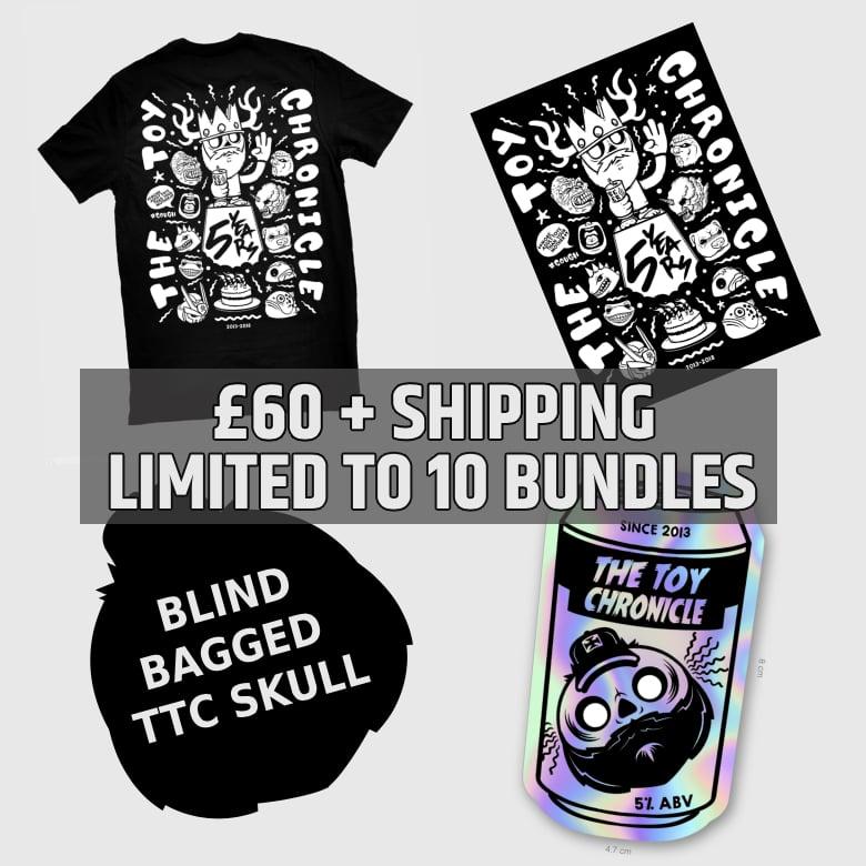 Image of Five Year Bundle (TTC Skull, Print, Tee & Sticker)