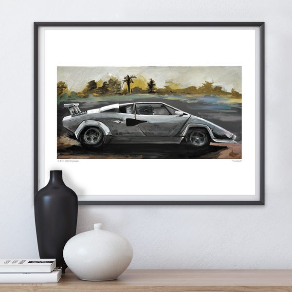 Countach Print - Matt Q. Spangler Illustration