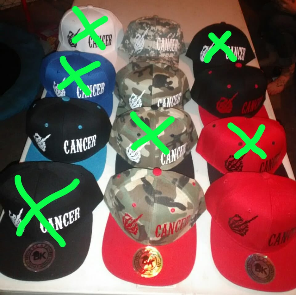 b8ab23c773be1 Image of F CK CANCER Snapback hats (limited amount)