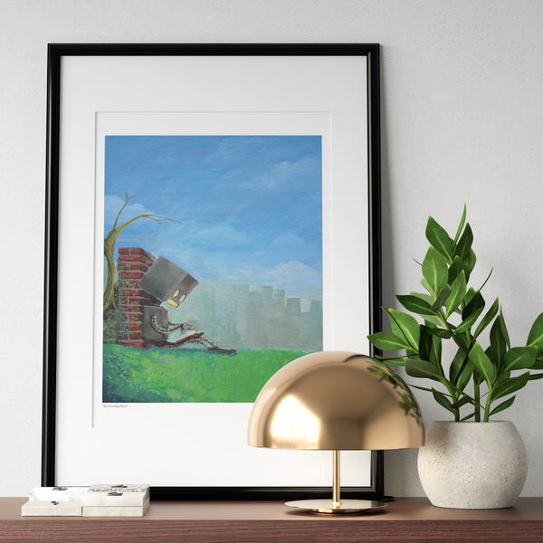 My Reading Place Print - Matt Q. Spangler Illustration