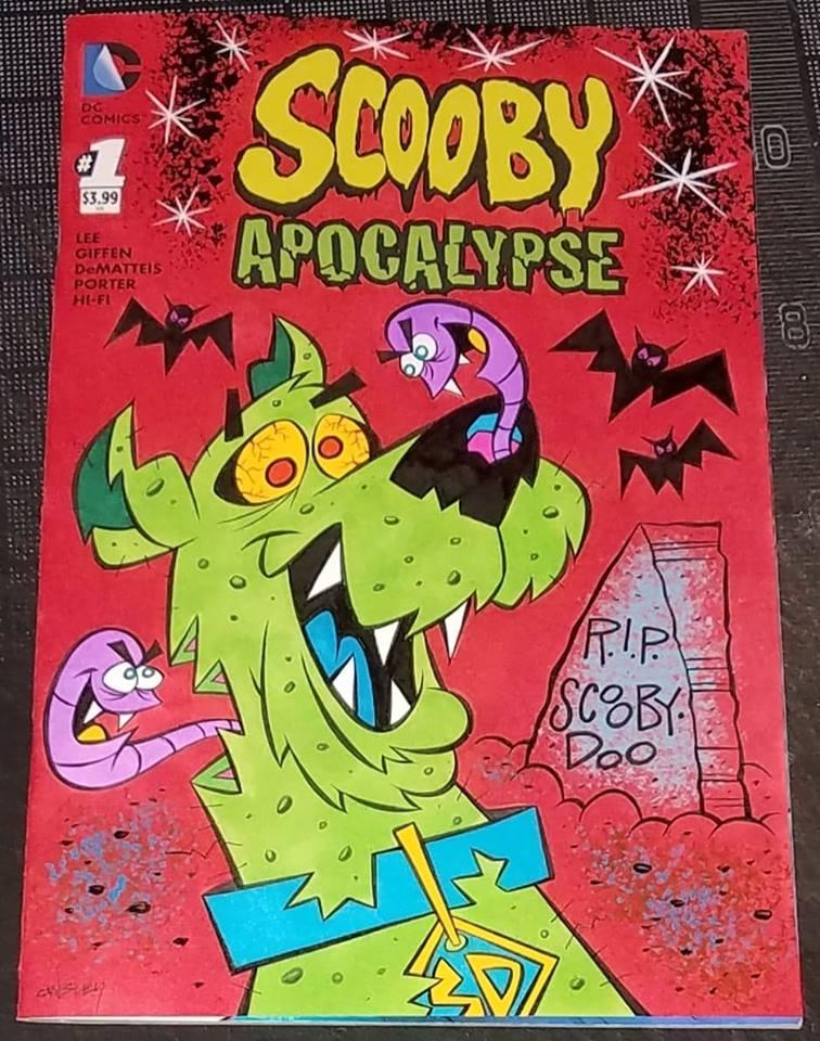 Image of ZOMBIE-DOO! SCOOBY APOCALYPSE #1 ORIGINAL ART SKETCH COVER