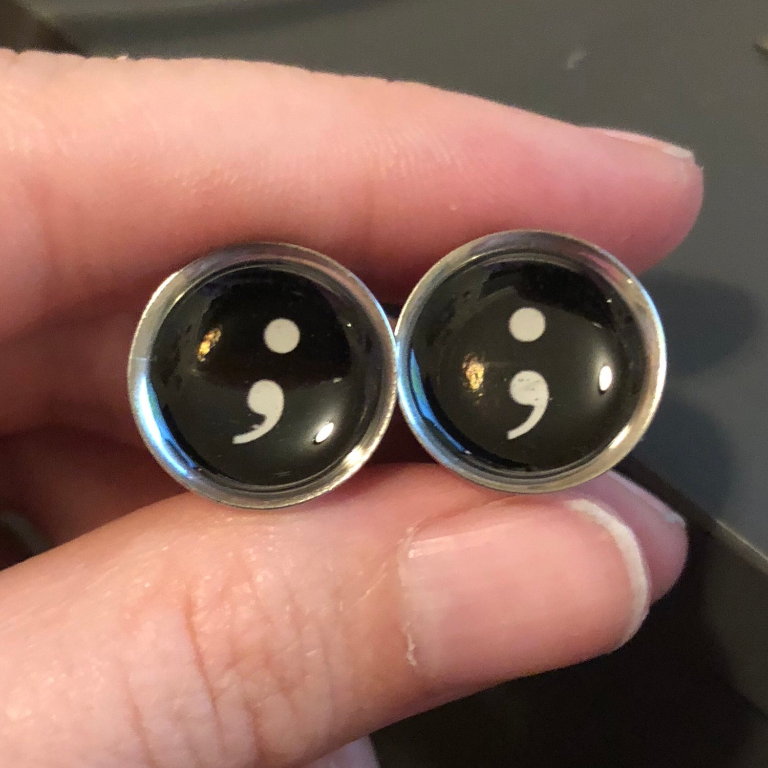 "Image of Semicolon Plugs (Sizes 2g-2"")"