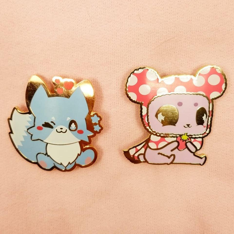 Image of Kitsune | Kuu Enamel Pin