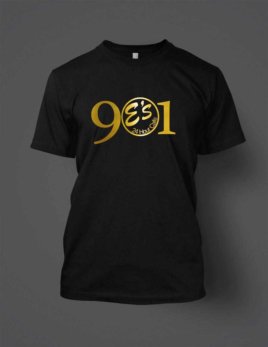 Image of Black and Gold E's 901 tee