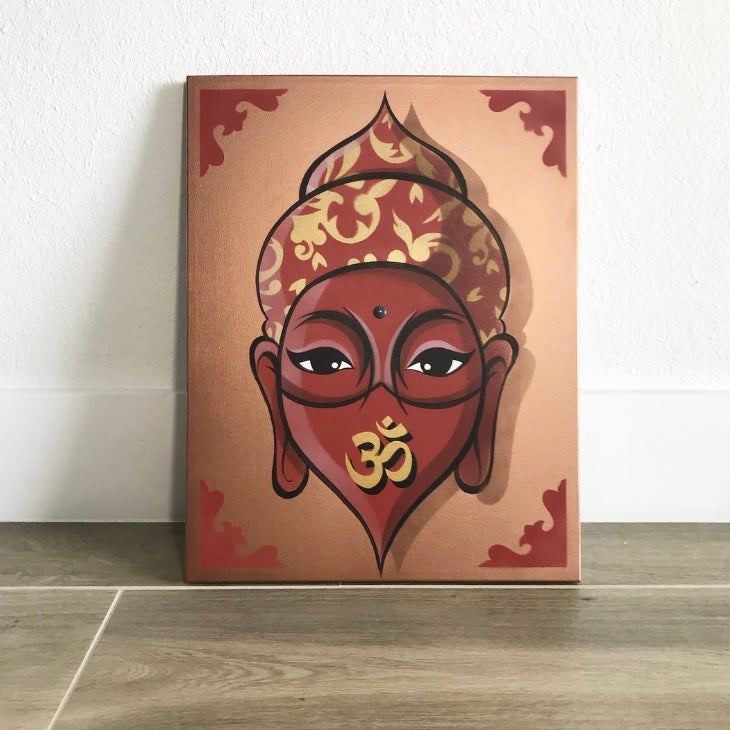 Image of Buddha 3 (Original/ Hand painted canvas)
