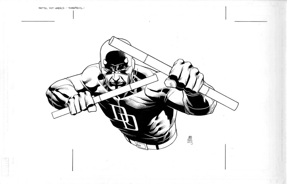 Image of Daredevil - Hot Wheels Packaging Art