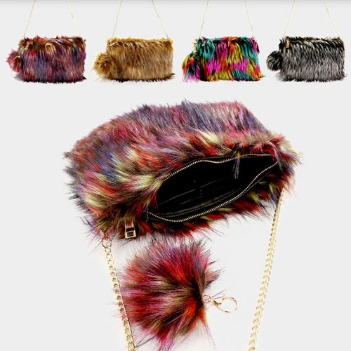 Image of Pom Pom Fur Clutch