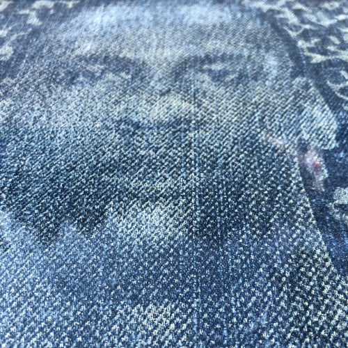 Image of Jordan Laser Engraved then Distressed on Denim