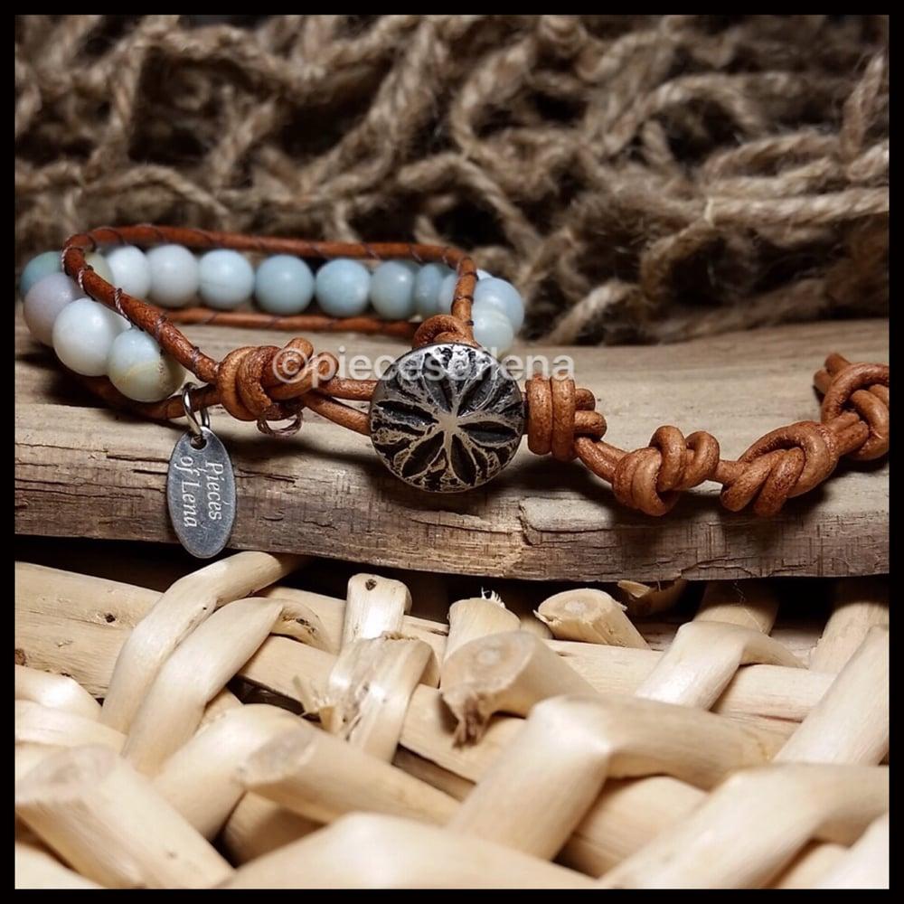 Image of Single Wrap Bracelet - Amazonite