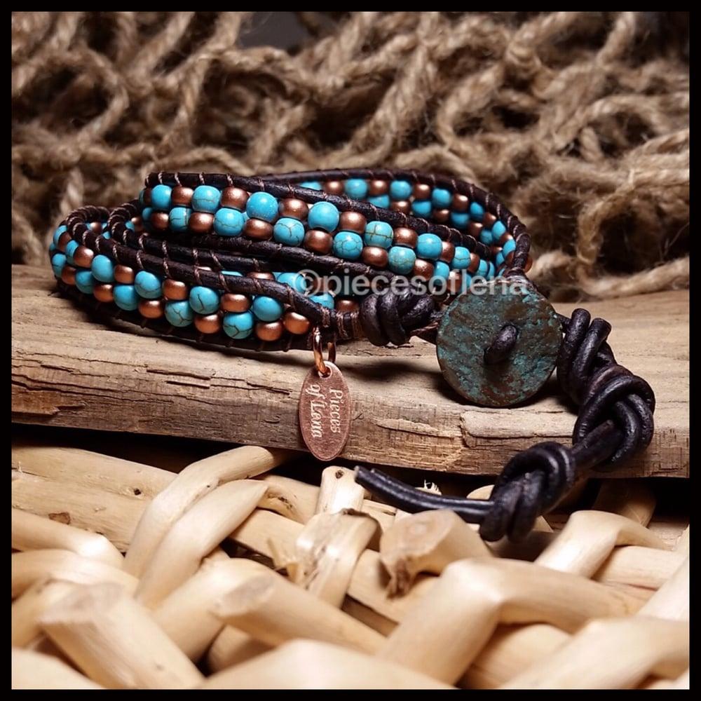 Image of Triple Wrap Bracelet - Rustic