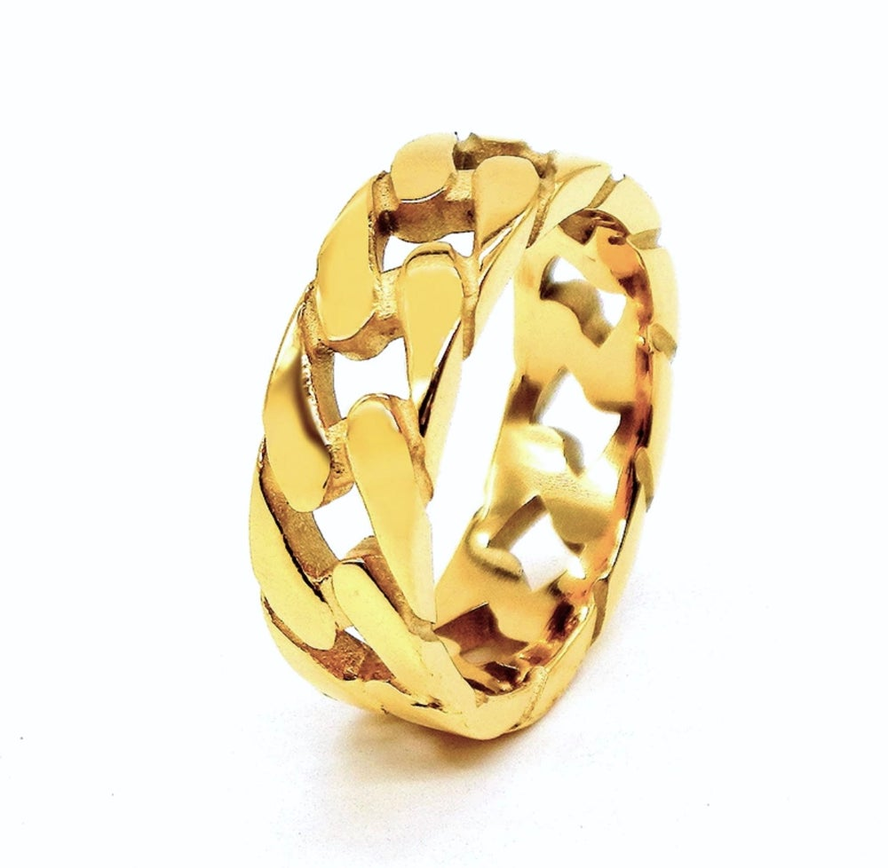 Image of GOLD CHAIN RING