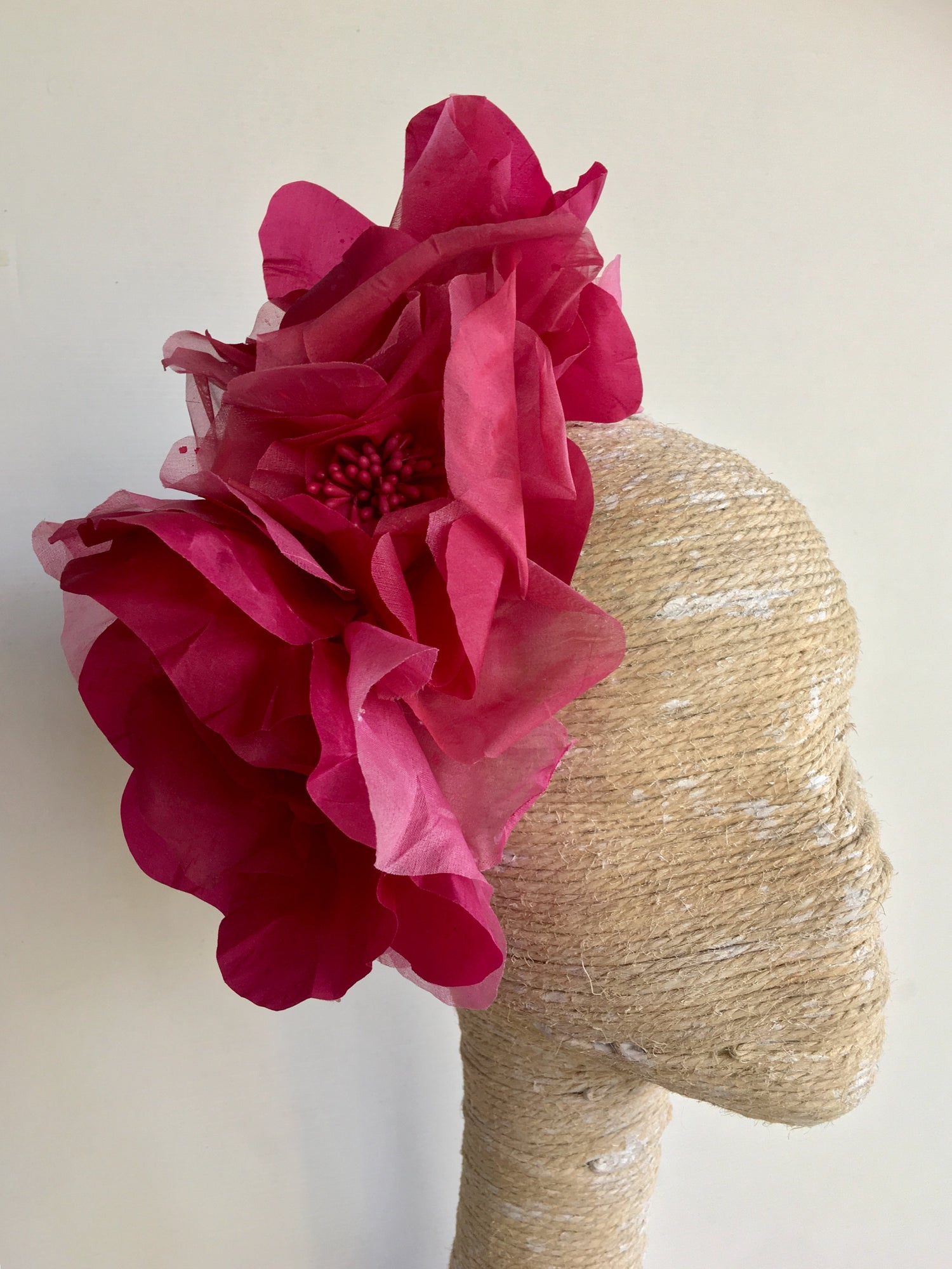 Image of Mauve silk flower headpiece