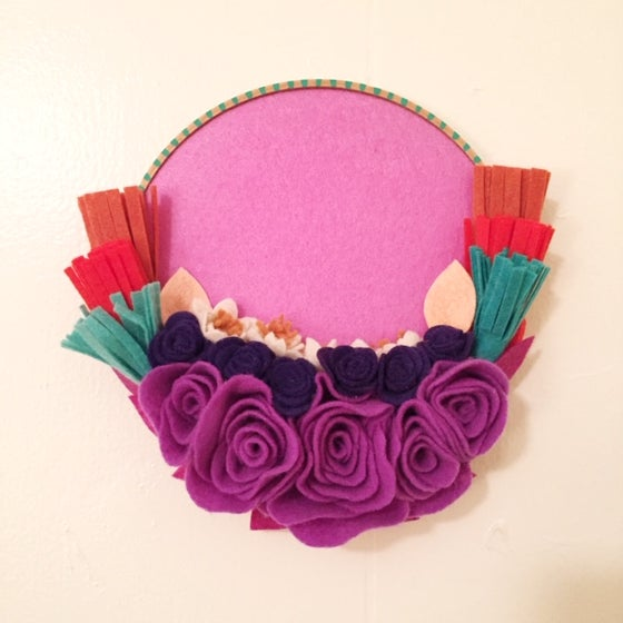 "Image of 7"" Pink Frida Hoop"