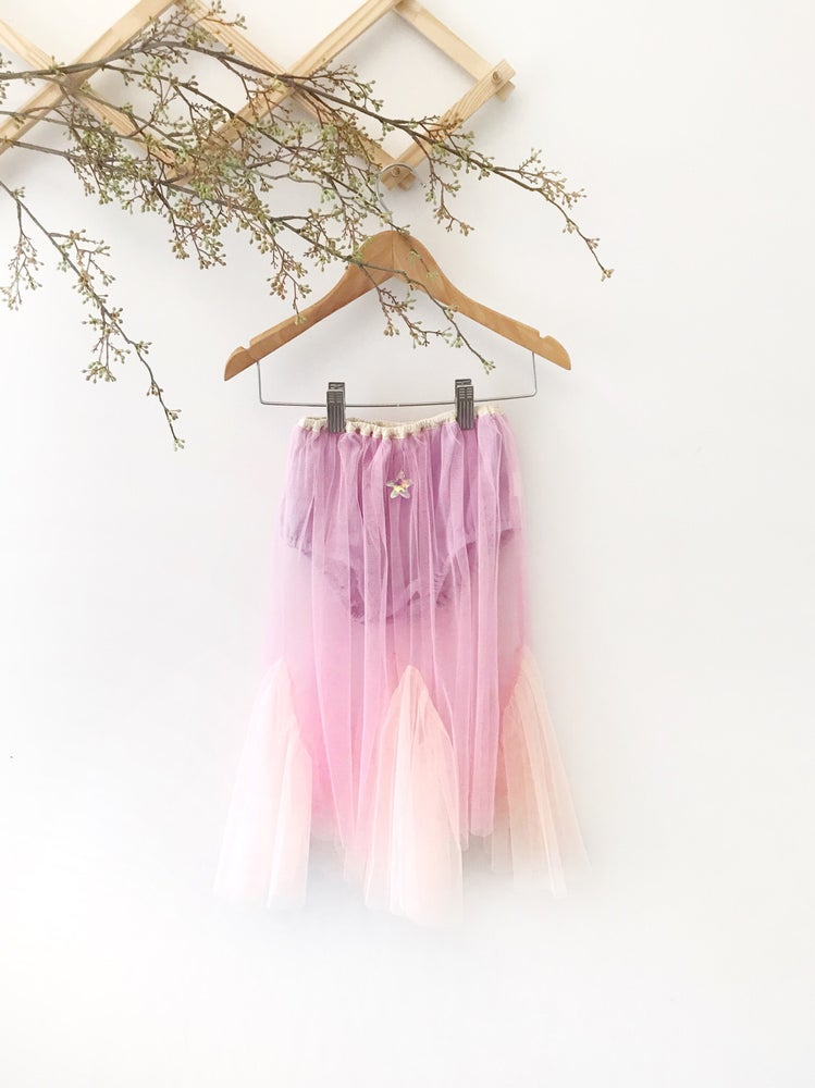 Image of mermaid tail maxi tutu skirt | lilac pink