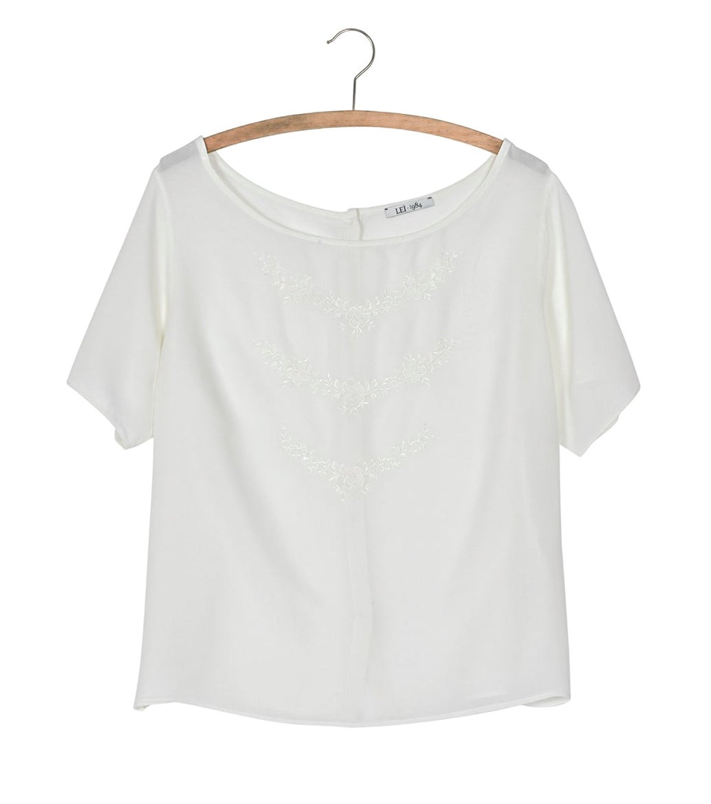 Image of Top soie brodée PRUDENCE 116€ -50%