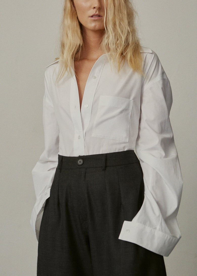 Image of 09-1 WIDE COLLAR SHIRT