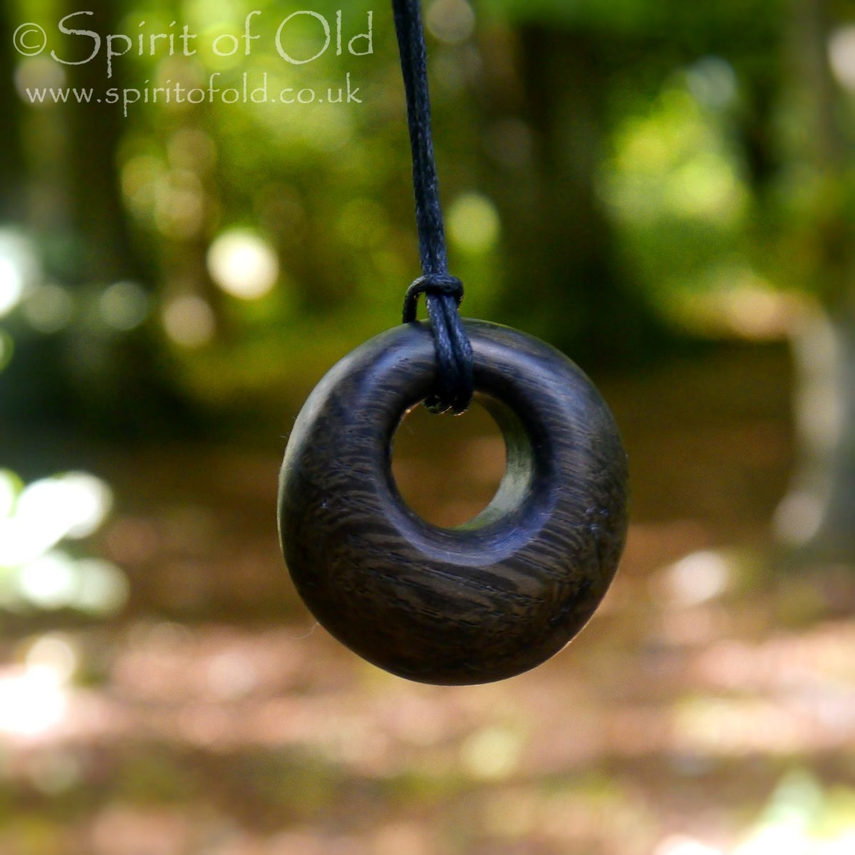 Image of Bronze Age bog oak ring pendant (PE1281)
