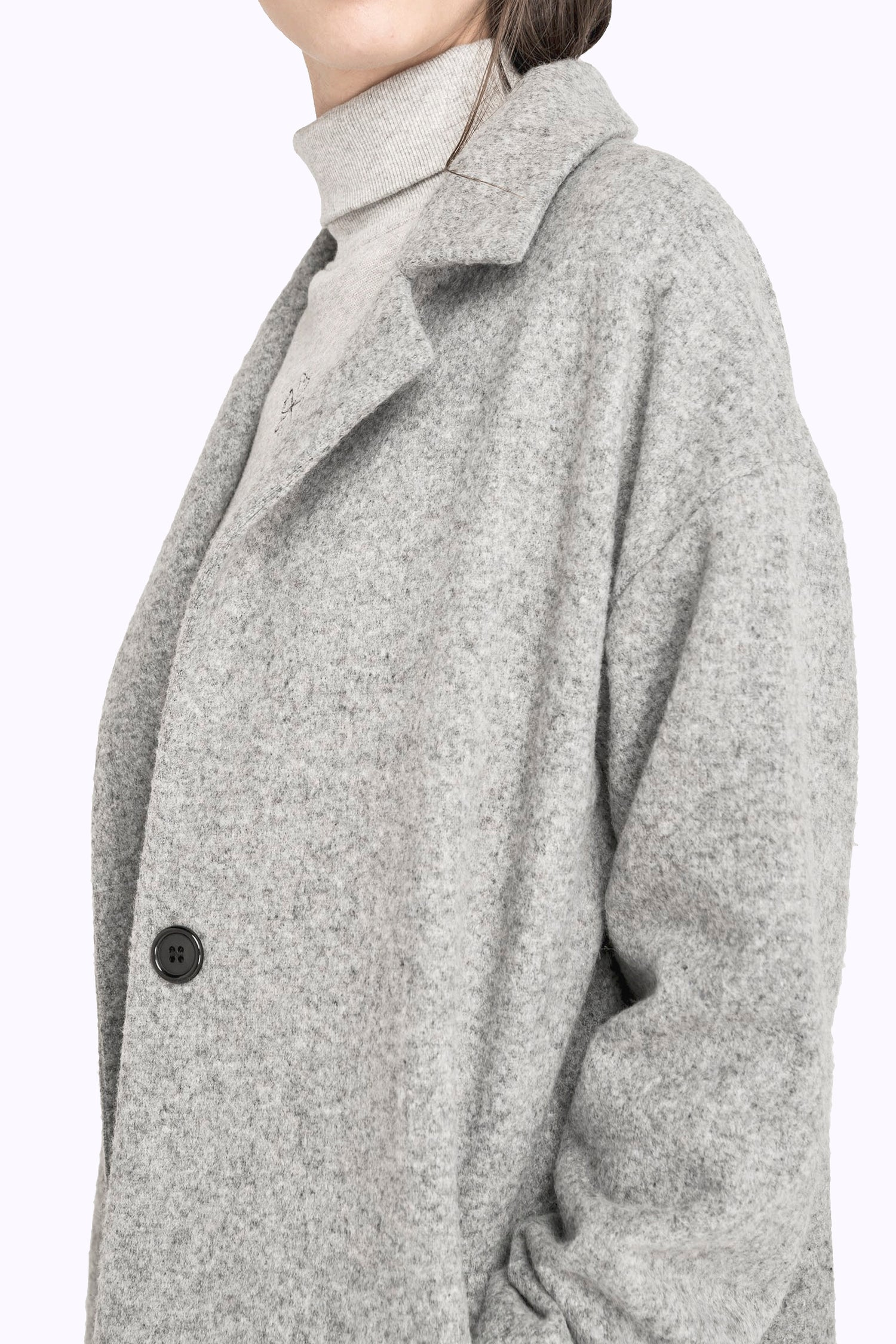 Image of Manteau long drap de laine FRANÇOIS 269€ -50%