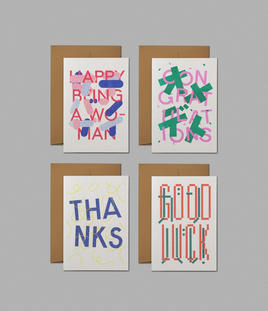 Image of Bilingual Greeting Cards (Risograph)