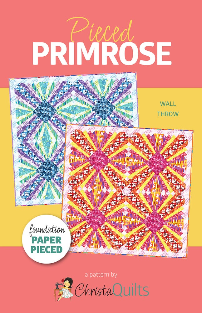Image of Pieced Primrose Quilt Pattern by Christa Watson (CQ118) - Preorder will ship November 16