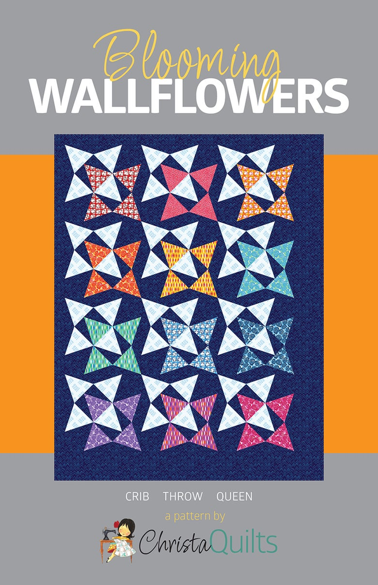 Image of Blooming Wallflowers Quilt Pattern by Christa Watson (CQ120) - Preorder will ship November 30