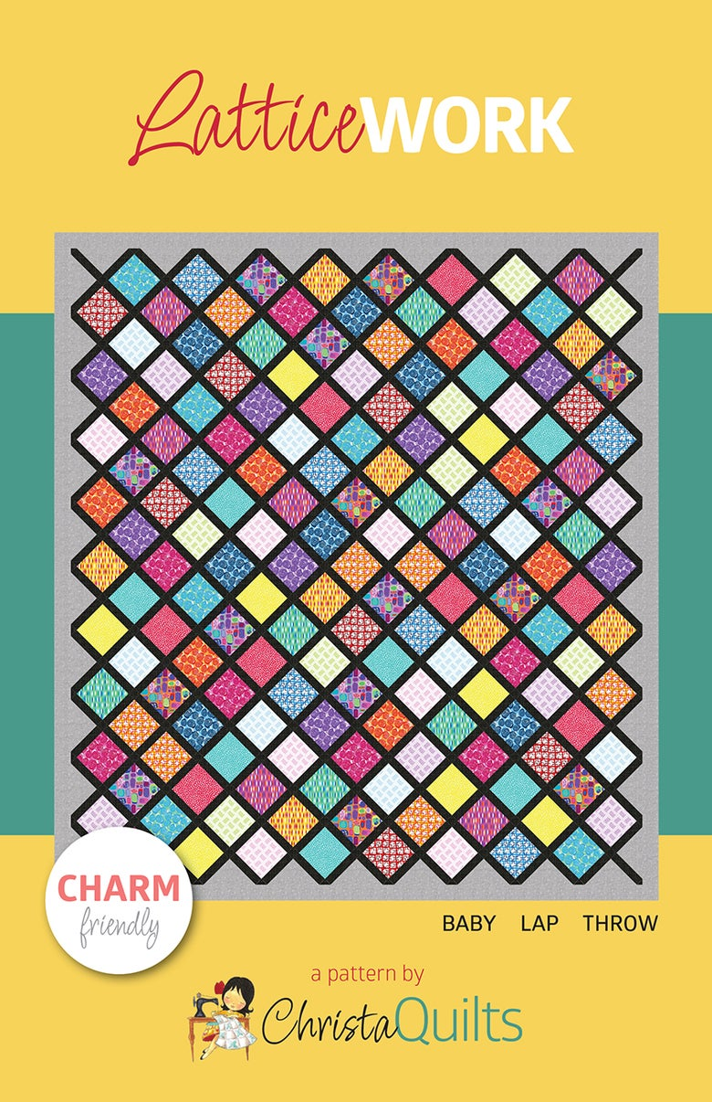 Image of LatticeWork Quilt Pattern by Christa Watson (CQ121) - Preorder ships November 16