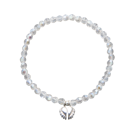 Image of NEW Faith Swarovski Crystal Angel Wings Bracelet