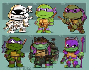 Image of Evolution of Donatello