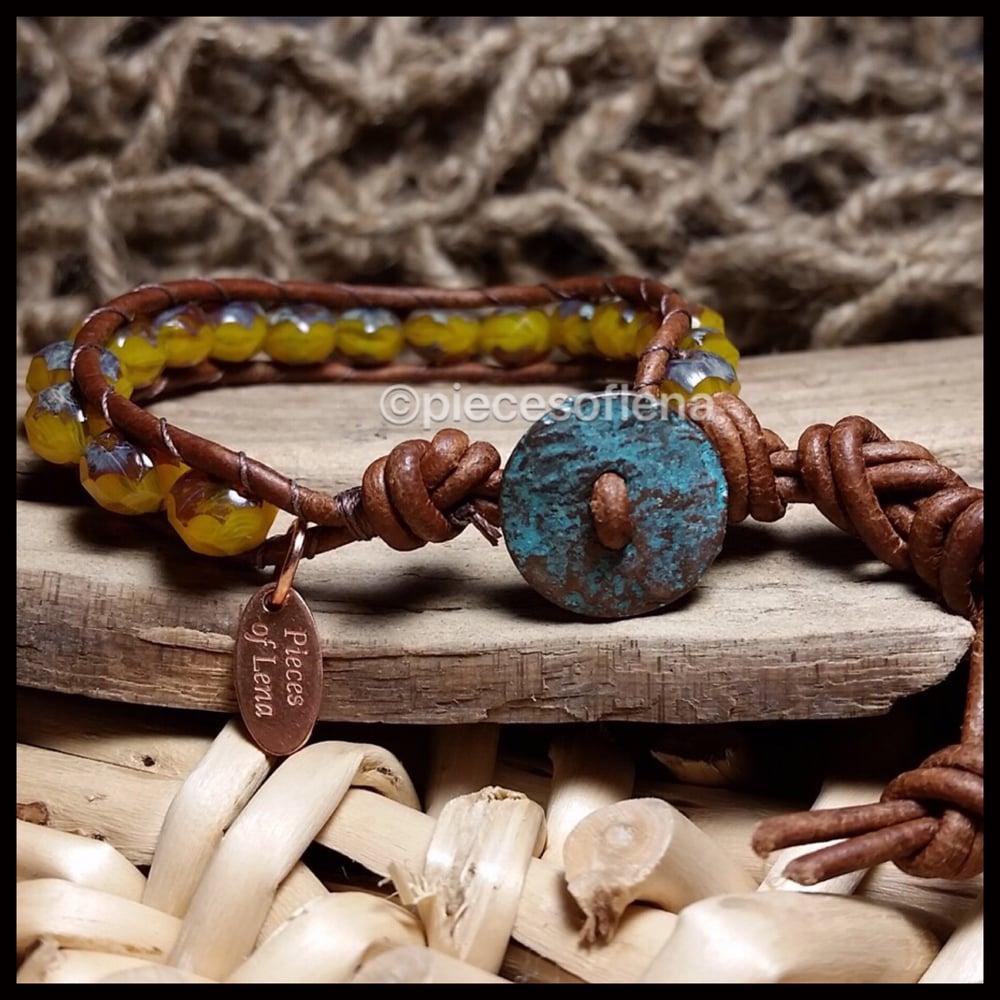 Image of Single Wrap Bracelet - Rustic Patina Fall