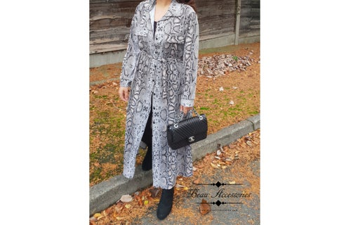 Image of Black & Grey Snake Print Dress