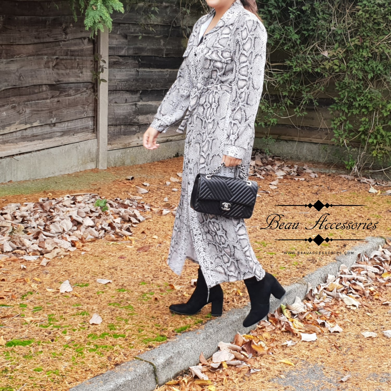 Image of Black & Grey Snake Print Dress (Was £26.99)