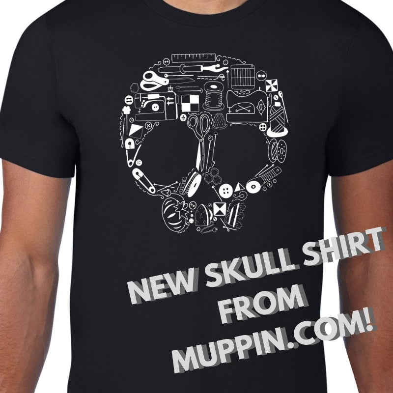 Sewing Skull 2 - Crew Neck T Shirt