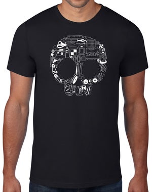 Image of Sewing Skull 2 - Crew Neck T Shirt