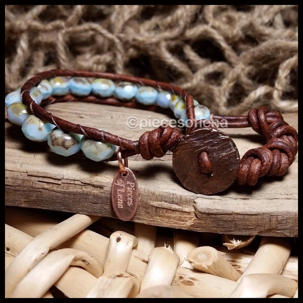 Image of Single Wrap Bracelet - Baby Blue Copper