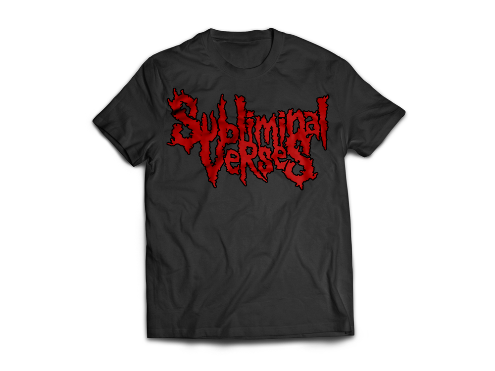 Image of Tee Subliminal Verses - Black