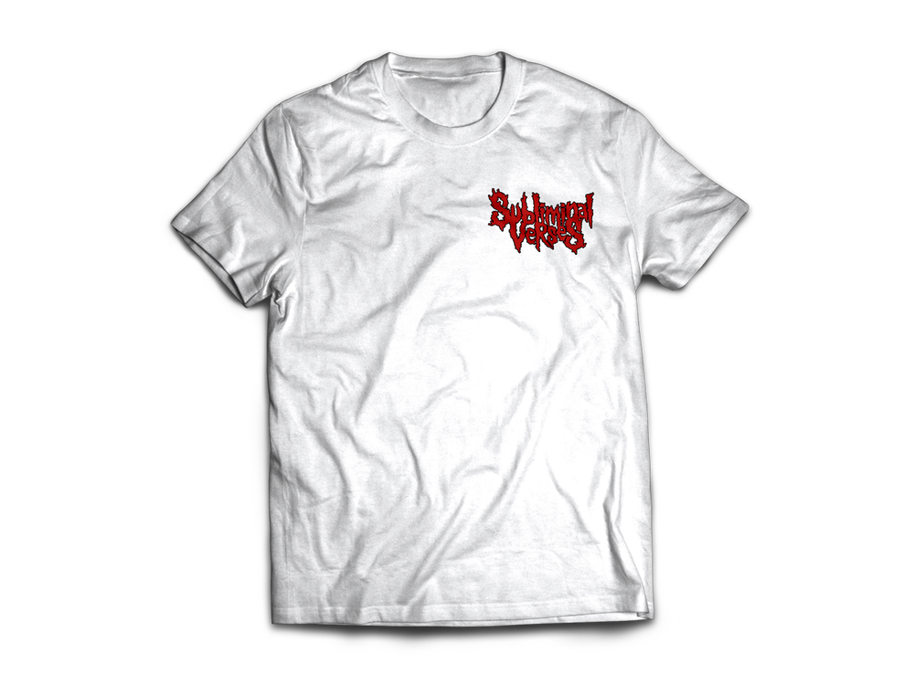 Image of Tee Subliminal Verses - SmallLogo - White