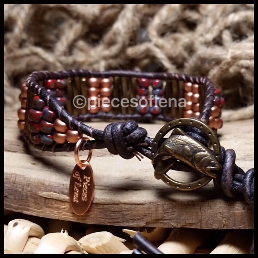 Image of Single Wrap Bracelet - Rustic Fall Fish