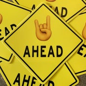 Image of METAL AHEAD Sticker