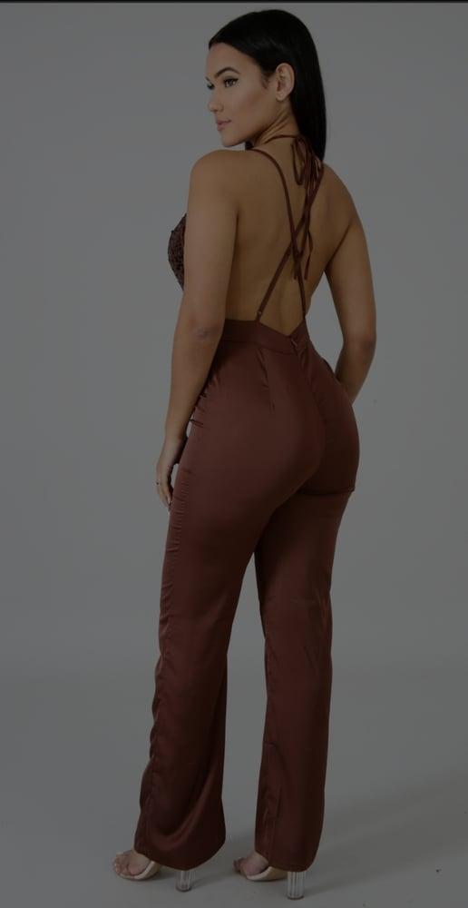 Image of Brown Kelly jumpsuit
