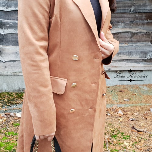 Image of Faux Suede Tan Jacket