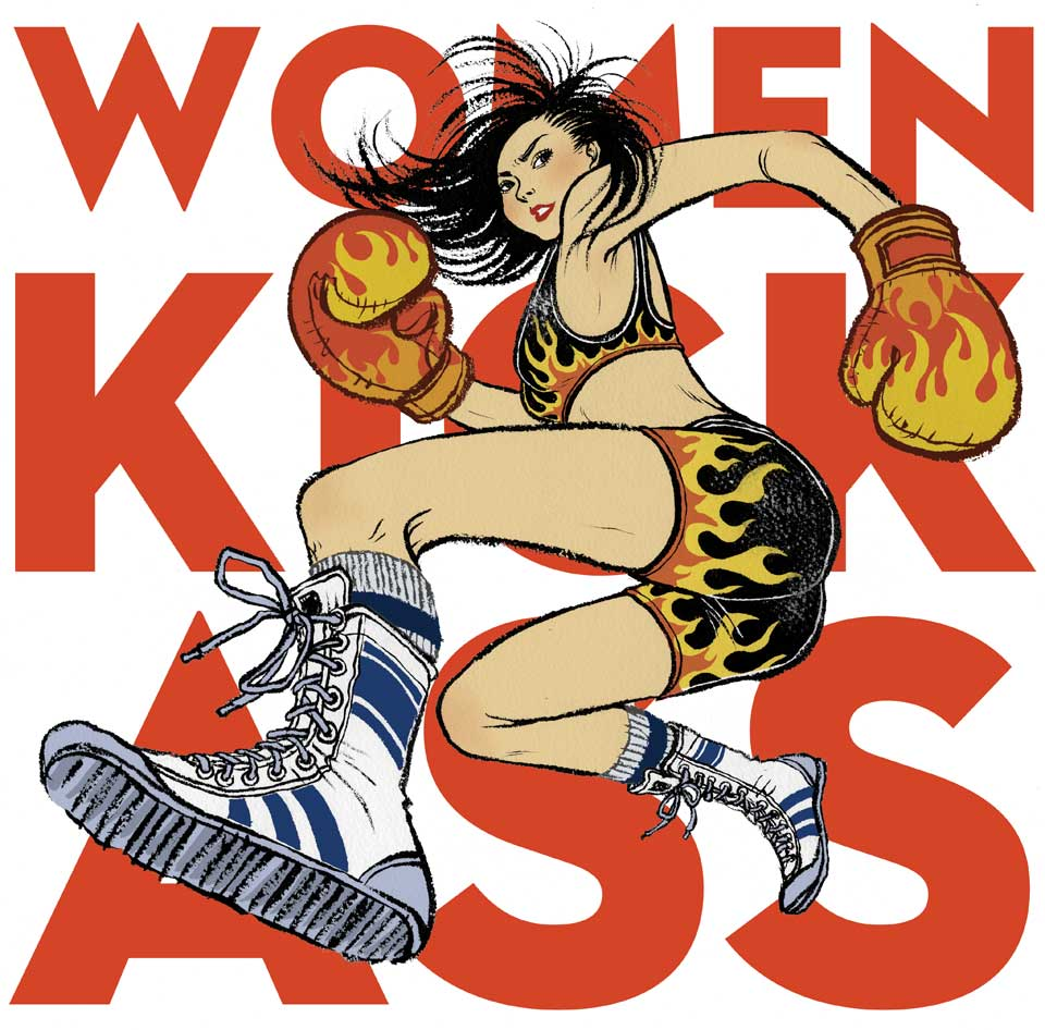Image of NEW: limited edition Women Kick Ass print