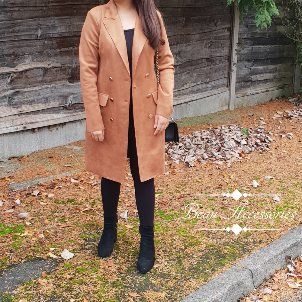 Image of Faux Suede Tan Jacket (Was £26.99)