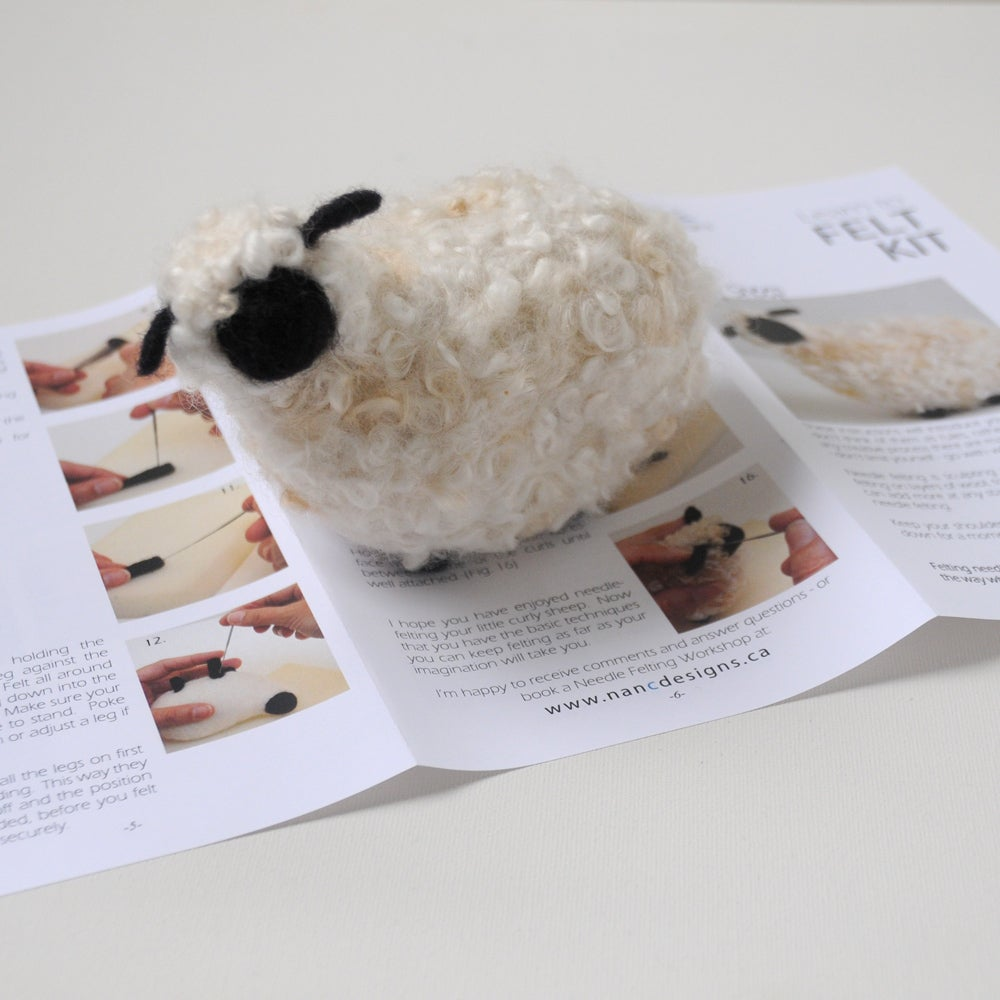 Image of Curly Sheep - Needle Felting Kit