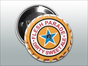 "Image of Flesh Parade ""Dirty Sweet Ale"" (3"" Button)"