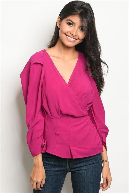 Image of Belle Wrap Top