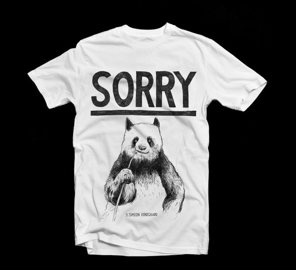 Image of 'Sorry' Panda T-Shirt by Simeon Kirkegaard