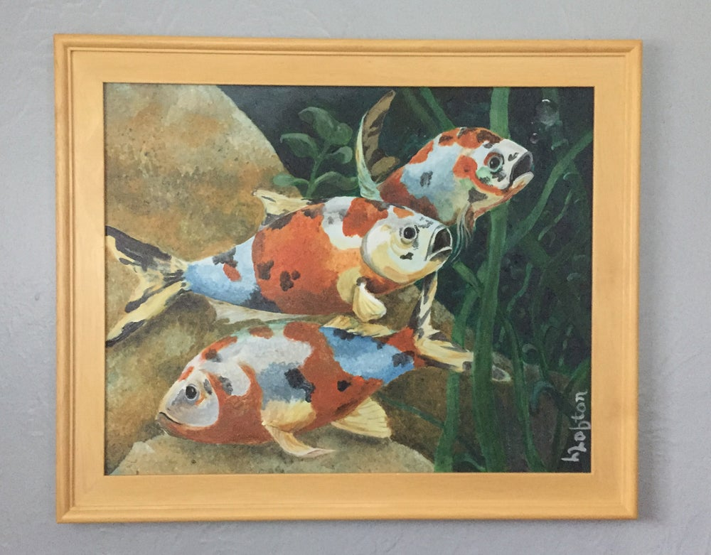 Image of LL004 KOI Original Acrylic