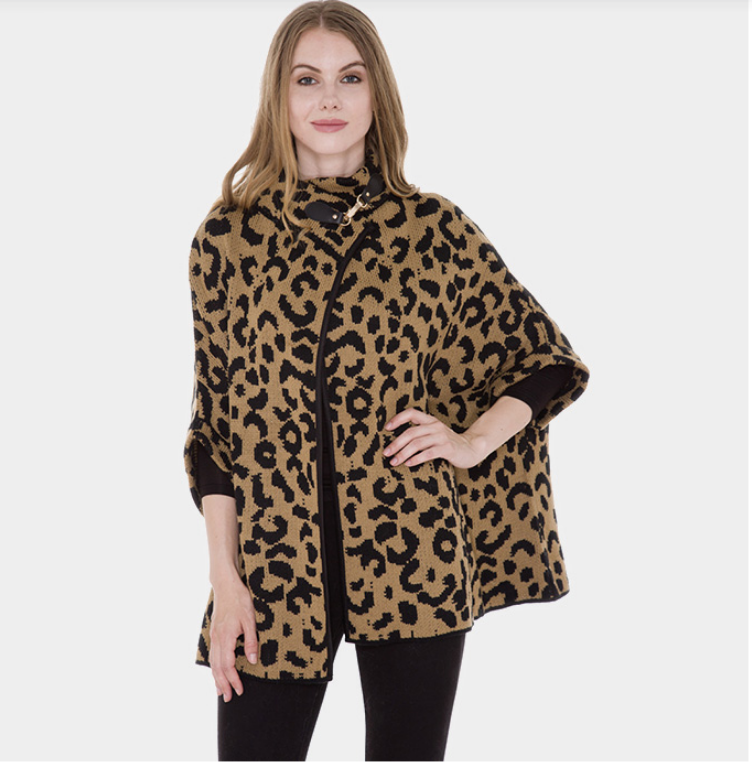 Image of Leopard Hook Poncho